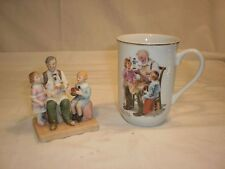 """Norman Rockwell """"The Toymaker"""" Cup And Figurine"""