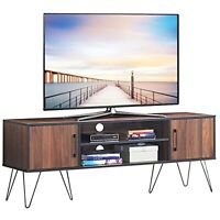 Rustic Farmhouse TV Stand Furniture Up to 60 Inch Entertainment Center Espresso