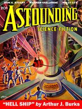 Pulp Cover Poster -Astounding Science-Fiction Vol 21 No 6, Aug 1938 Poster 18x24