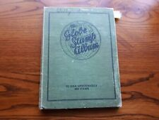 OLD GLOBE STAMP ALBUM (1935):  WORLD COLLECTION - 1140 USED STAMPS.