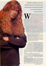 Megadeth Dave Mustaine UK 'Guitarist' Interview Clipping TRANSPARENCY