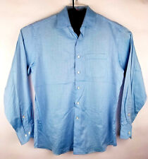 Men Tommy Bahama Cotton Blue Button Up Dress Shirt Size 15.5 34/35 RN15481