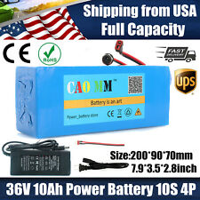 36V 10Ah Lithium Battery Pack 500W ebike E Bicycle battery Charger Rechargeable