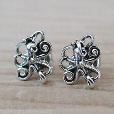 Octopus Earrings - 925 Sterling Silver Octopus Stud Earrings - Beach Ocean *NEW*