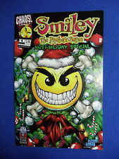 ~~ SMILEY THE PSYCHOTIC BUTTON ANTI-HOLIDAY SPECIAL #1 ~ 1999 ~  CHAOS COMICS ~~