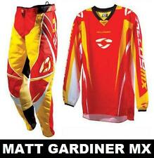 "ALLOY MOTOCROSS MX KIT pants jersey RED YELLOW 28"" S"