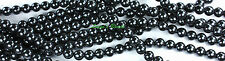 75 Black CZECH Glass Pearl Coated Round Glass Beads 8mm