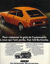 PUBLICITE  1975   FIAT  128  BERLINETTA