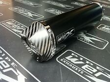 Yamaha Fazer Fzs 600 Negro Oval, De Carbón De Salida De Escape, silenciador Camino legal