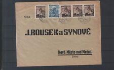 Böhmen und Mähren Bedarfsbrief mit MiF Michel Nr. 40 & 21