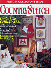 Country Stitch Magazine Premier Collector's Issue -Counted Cross Stitch Patterns