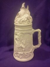 "Ceramic Bisque Middle Earth w/ Wizard/Viking stein 14"" ready to paint"