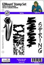 SPRING STAMP SET - 4 EZ Mount Stamps - Dee Gruenig