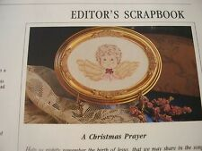 Jingle Bear All The Way Ornament Design OOP Magazine Cross Stitch PATTERN