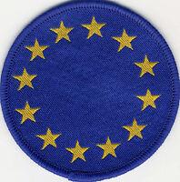 Woven Badge Patch European Union EU Circle 71mm Diameter UK Manufactured