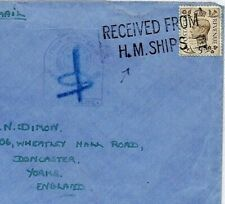 More details for gb ww2 naval cover superb *received from hm ships* undated machine yorks cs357