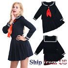 Japanese JK School Uniform Sailor Women Girl Shoujo Costume Dress Halloween US