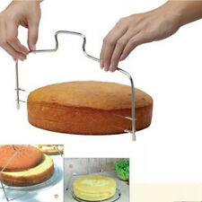 Dough Cutter Puppets Stainless Steel Adjustable 2 Wire Cake Slicer Bread Leveler