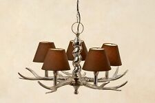Chandelier Antler Braun Cottage Lampshade Antler Lamp Branch Lamp Ceiling Light