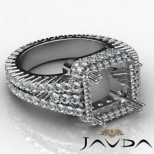 Diamond Engagement Halo Prong Ring Princess Semi Mount VS1-VS2 14k W Gold 2.5Ct