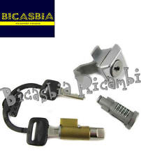2649 KIT SERRATURE STERZO SELLA BAULETTO VESPA PX 125 150 200 1 I SERIE