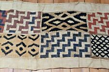 Long Antique Kuba Cloth Raffia Textile Traditional African Tribal Money, Congo