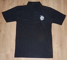 BARBARIANS RUGBY NEW Unworn Embroidered BLACK Cotton Polo Shirt Size MEDIUM