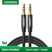 Ugreen 3.5mm Audio Cable Braided Auxiliary AUX Cord for Car Stereos, Beats, 1m