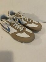 Women's Nike Air SP-5 III White Tan Blue Golf Shoes 314914-142 Size 8.5 Cleats