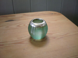 Antique Hallmarked Silver Rimmed Green Glass Match Striker Sheffield 1925