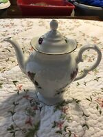 Vintage Royal Kent Poland collection coffee/tea pot with lid Rose Floral China