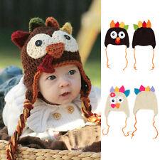 Baby Kid Child Knit Crochet Thanksgiving Turkey Hat Newborn Soft Cap Beanie Gift