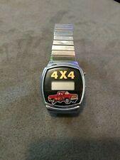 4x4 4 X 4 truck auto vehicle watch wristwatch digital unique fun country redneck