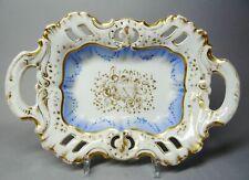(G4676) Biedermeier Prunkschale, Durcharbeit, um 1850, Länge ca. 31 cm
