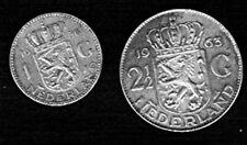 Niederlande MÜNZEN-1 + 21/2 Gulden-SILBER 1956 + 1963