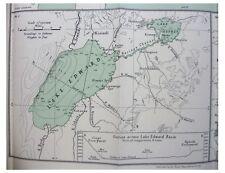 1932 Worthington  INLAND WATERS OF AFRICA  Kenya  UGANDA  Lakes  COLOUR MAP - 4