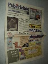 PUBLI-HEBDO (20/2/2002) SHEILA MAURANE BABAR ALEC MANSION STTELLLA