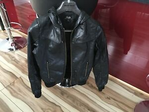 CKM Faux Leather Jacket - Size 8 (5 or more items free postage AU only)