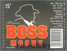 Poland Brewery Witnica Boss Mocny Beer Label Bieretikett Cerveza wi60.1