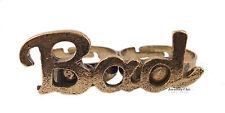 Vintage Bronze Word Letter Written Bad Jewellery Adjustable Double Finger Ring