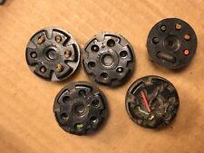 5 Vintage Amphenol 6-pin Black Bakelite Shorting Plug Adapters