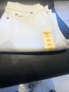 BN RM Williams Ladies Jeans Off White Size 8
