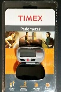 Timex Ironman Pedometer w/Calorie Burn Counter, Footsteps, Distance & Case New!