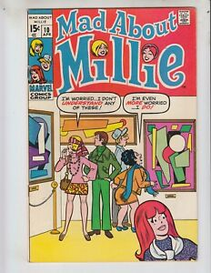 Mad About Millie 10 VF- (7.5) 4/70 Super Hip Mod Comic! Tons of Fun!