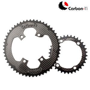 Carbon Ti X-CarboRing Carbon Chainringsets x 110BCD- DA9100/9000 (4arms)