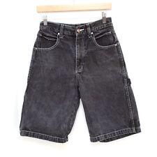 FUBU The Collection Jean Shorts Mens Boys Size 14 Black Carpenter Denim