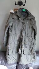 Super Ladies H & M Parka style coat Size S (10-12) Khaki Worn once Faux fur trim