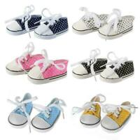 18 Inch Girls Doll Shoes Canvas Sport Shoe Sneaker Baby Accessories Toys S4U3