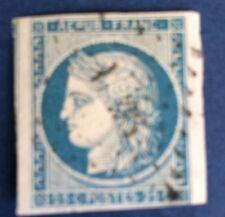France N°4 25 C Bleu Oblitéré TB Qualité Cote 60€
