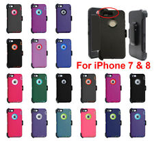 For Apple iPhone 7 & 8 Case Cover Defender with (Belt Clip Fits Otterbox Series)